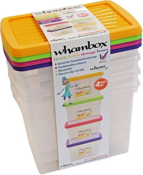 WHAM Boxy s víkem 6,7 l, 4 ks