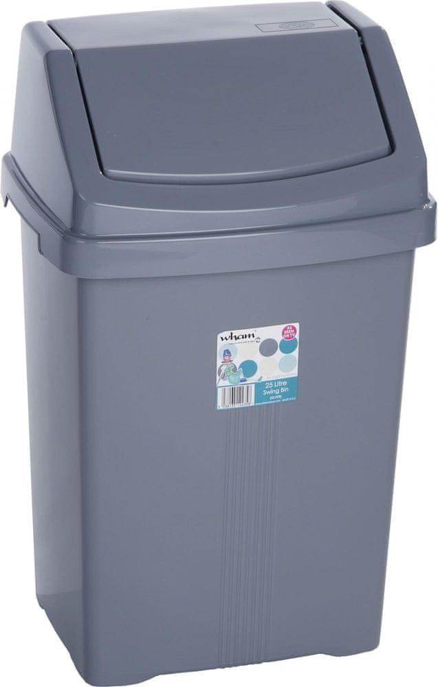WHAM Odpadkový koš 25 l stříbrná