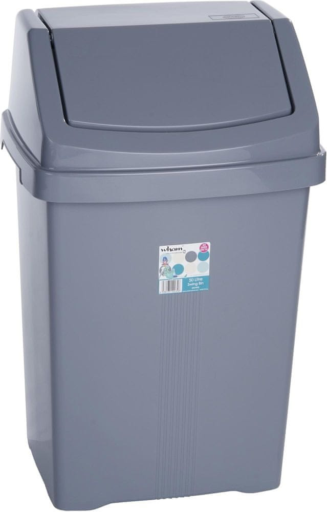 WHAM Odpadkový koš 50 l stříbrná