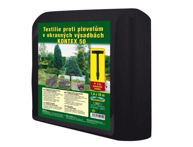 NOHEL GARDEN Textilie KONTEX mulčovací černá 1,6x10m