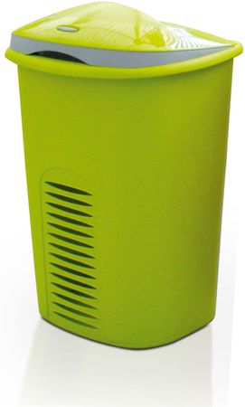 Meliconi Szennyeskosár, 50 + 10 l, Zöld