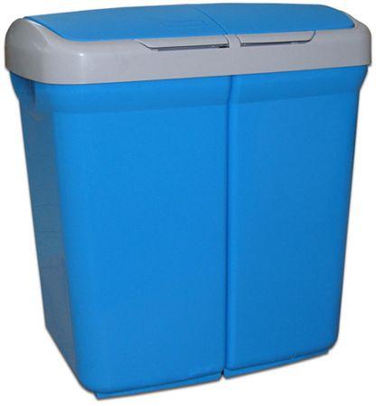 Meliconi Kosz na odpadki Ecobin 25+25 l, niebieski