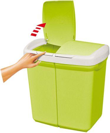 Meliconi Kôš na triedený odpad Ecobin 25+25 l, zelená