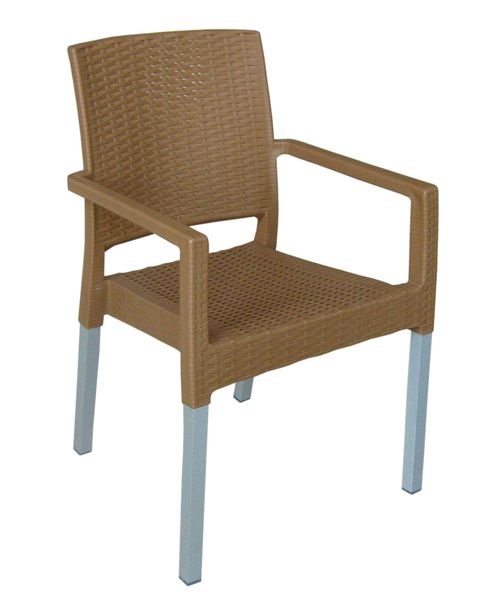 MEGA PLAST MP692 RATAN LUX (AL nohy) židle okrová