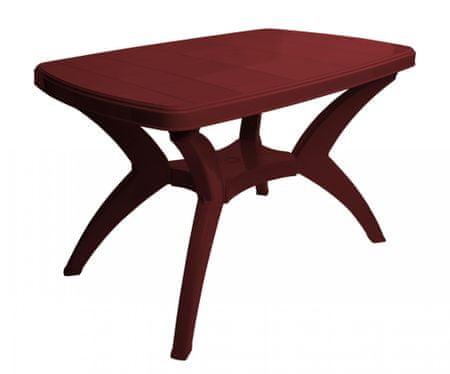 MEGA PLAST duży stół MP462 CENTO 73x70x120cm czerwony