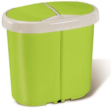 Meliconi Kôš na triedený odpad Multispace 12,5+12,5 l, zelená