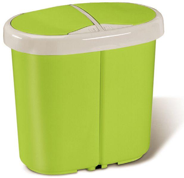 Meliconi Koš na tříděný odpad Multispace 12,5+12,5 l zelená