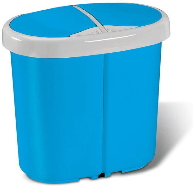 Meliconi Koš na tříděný odpad Multispace 12,5+12,5 l modrá