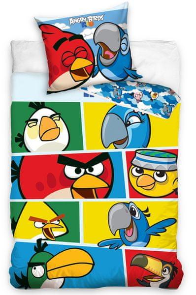 Carbotex Povlečení Angry Birds Check Blue