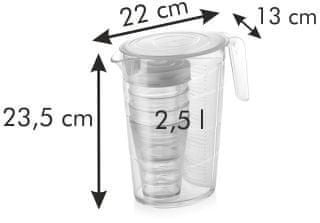 Tescoma Džbán myDRINK 2,5 l, 4 poháry s víčkem
