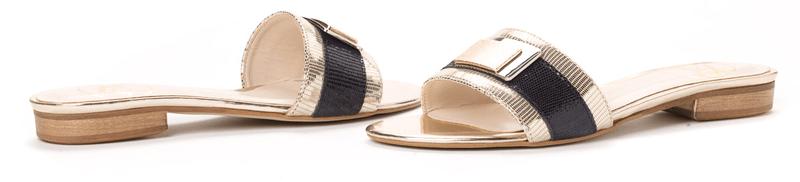 PAOLO GIANNI dámské pantofle 41.0 zlatá - II. jakost
