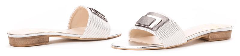 PAOLO GIANNI dámské pantofle 37 stříbrná