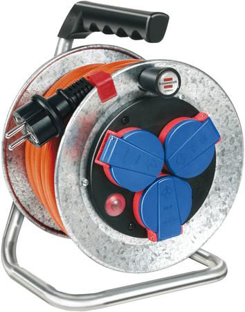 Brennenstuhl kabelski boben BAT Stahl AT-N07V3V3-F, 40 m