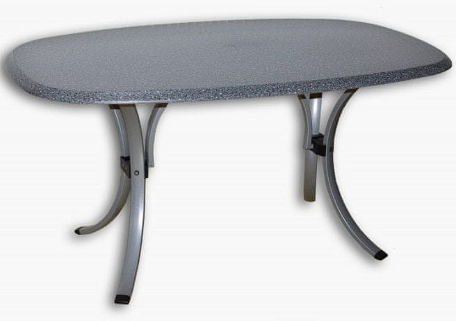 Rojaplast NEWCASTLE WERZALIT stůl černý/stříbrný