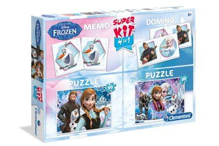Clementoni igre Superkit Frozen 4 v 1 (08208)