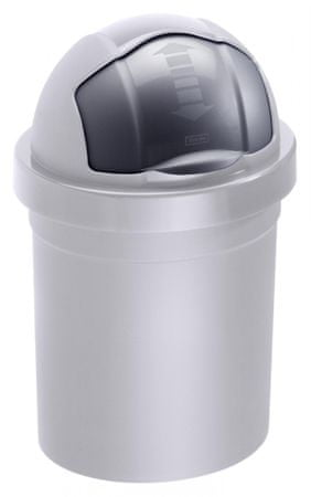 Rotho koš za odpadke Roll Bob, 10 l, siv