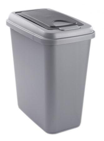 Rotho koš za odpadke Touch, 25 l, siv