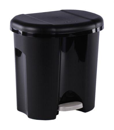 Rotho koš za odpadke Duo, 2 x 10 l, črn