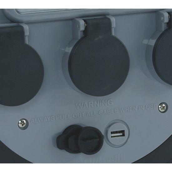 Outwell kabelski boben 3Way USB/Light
