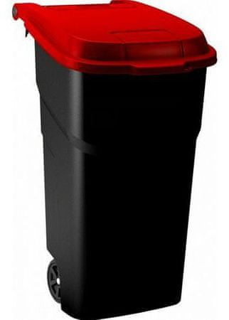 Rotho zabojnik za odpadke Atlas, 100 l, rdeč