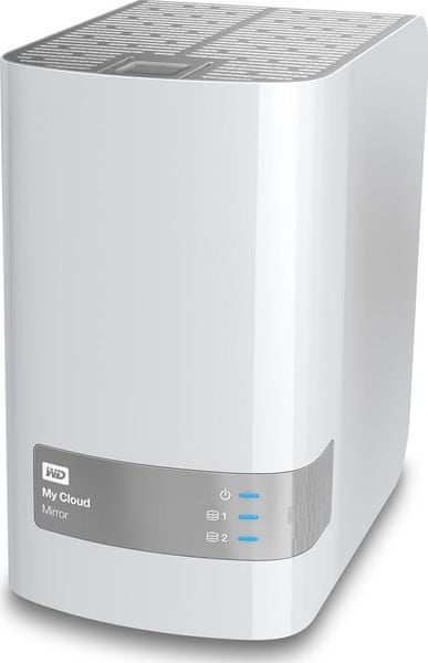 "WD My Cloud Mirror 8TB / Externí / RJ-45 / 3,5"" White (WDBWVZ0080JWT-EESN)"