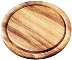 Fackelmann Deska do krojenia 25 cm, drewniana