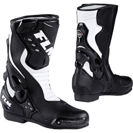 FLM motoristični športni čevlji 1.0, moški, črno/beli, 42