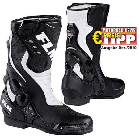 FLM motoristični športni čevlji 1.0, moški, črno/beli, 46