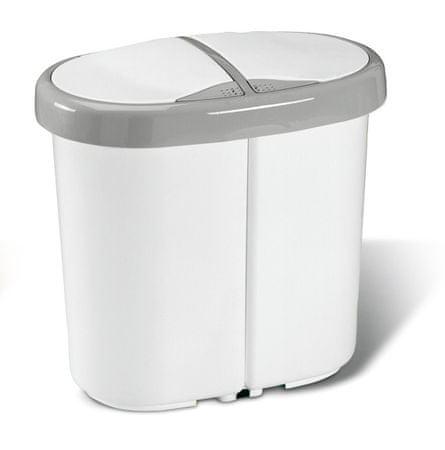 Meliconi Koš na tříděný odpad Multispace 12,5+12,5 l bílá