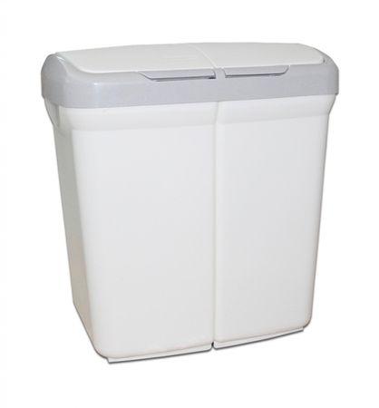 Meliconi Kôš na triedený odpad Ecobin 25+25 l biela