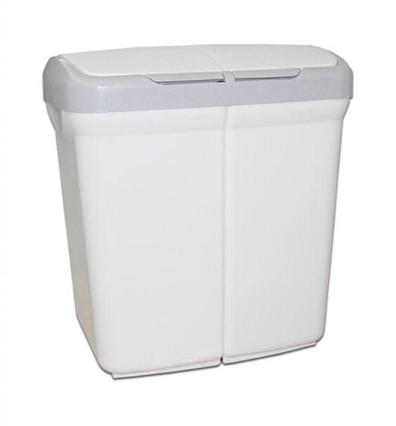 Meliconi Koš na tříděný odpad Ecobin 25+25 l bílá