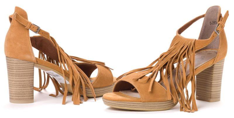 s.Oliver dámské kožené sandály 41 hnědá