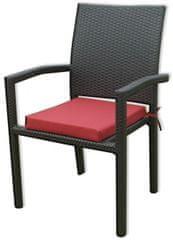 Rojaplast stol iz ratana, z blazino (17/4002)