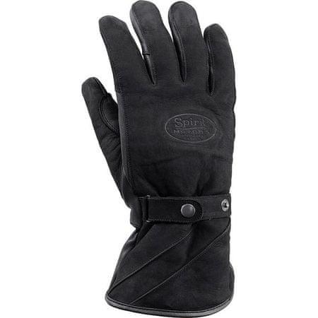 Spirit Motors motoristične rokavice 1.0 Velur, črne, 9,5