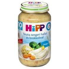 HiPP Tészta tengeri hallal és brokkolival bébiétel (+10 hó) - 220g