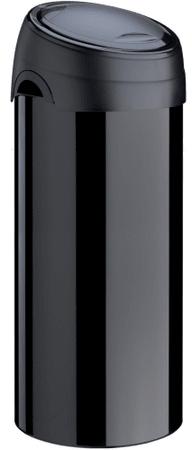 Meliconi Soft-Touch Szemetes Rozsdamentes acélból 40 l, Fekete