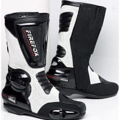 FireFox motoristični športni škornji 1.0, moško, črno-beli