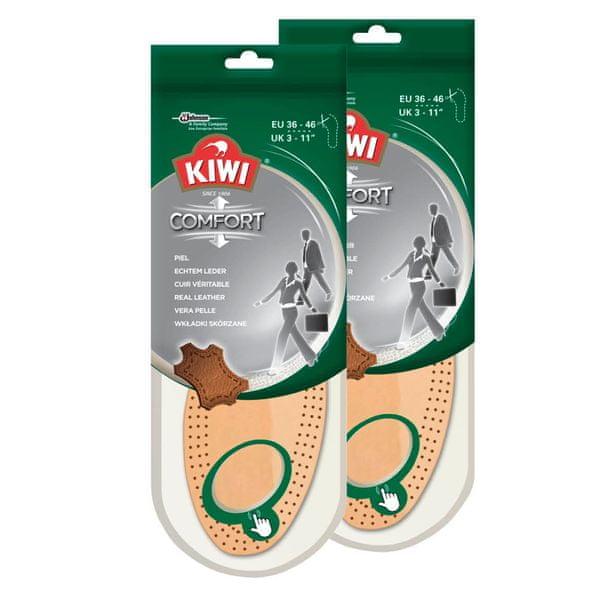 KIWI Real Leather Insoles (2x1 pár) Vložky do bot