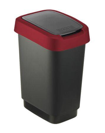 Rotho koš za odpadke Twist, 10 l, rdeč