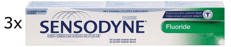 Sensodyne Fluoride 100 ml Zubní pasta 3ks