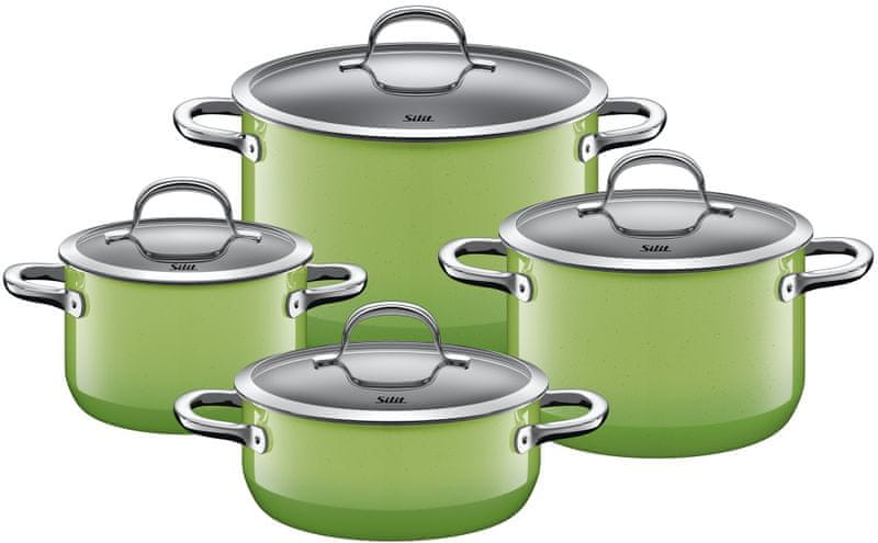 Silit Sada nádobí Passion Colours Green 4-díly