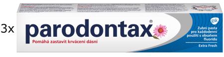 Parodontax Extra Fresh 75 ml Zubní pasta 3ks