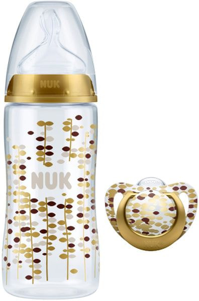 Nuk Set Gold Edition 60 YEARS - láhev+dudlík