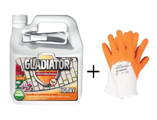 GLADIATOR HOBBY Herbicid 3l + rukavice ZDARMA