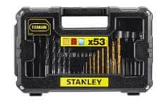 Stanley Sada vrtákov mix, bity, držiak bitov 53 dielov (STA7223-XJ)