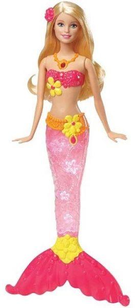 Mattel Barbie Svítící mořská panna, blond 2015