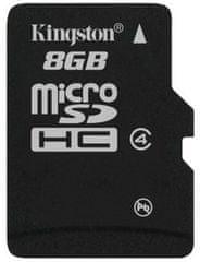 Kingston Spominska kartica microSD 8 GB C4, (SDC4/8GBSP)