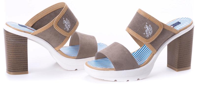 U.S. Polo Assn. dámské pantofle Nikole 39 šedá