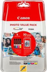Canon CLI-551CMYBK, Multipack + 50x PP-201 photopaper