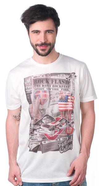 Brave Soul pánské tričko Retro XL bílá